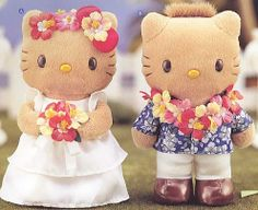 kitty and daniel | hello kitty hawaiian wedding plushes show kitty and daniel dressed and ...