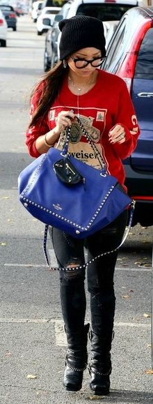 "Brenda Song carrying the Valentino ""Rockstud"" shopping bag SPRING-SUMMER 2014 COLLECTIONS"