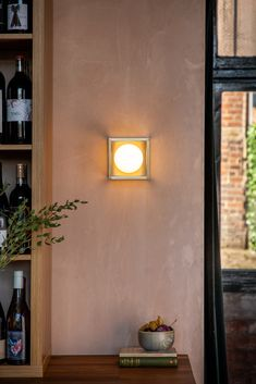 Pearl 1 Wall light in machined satin brass with opal glass globe and tinted acrylic panels Acrylic Panels, Led Module, Glass Globe, Bronze Finish, Outdoor Lighting, Lanterns, Sconces, My Design, Wall Lights