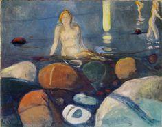 CÓMO CANTABA MAYO EN LA NOCHE DE ENERO: Edvard Munch - Noche de verano, sirena (1893)