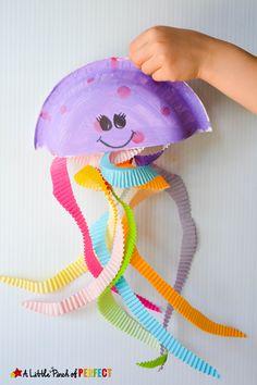 Jiggling Jellyfish Cupcake Liner Craft