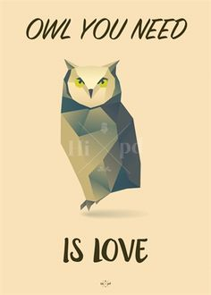 Hipd plakat, Owl You Need Is Love (Limited Edition) Happy Quotes, Funny Quotes, Motivational Quotes, Life Quotes, Nostalgic Pictures, Book Labels, Funny Posters, Funny Signs, Picture Quotes