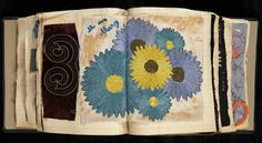 ▲ Page an embroidery sample album to daisies patterns  - Lanvin Heritage Site History Lanvin, more than 125 years of creation