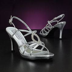 Sparkly Silver High heels 3 inch heels with beautiful silver ...
