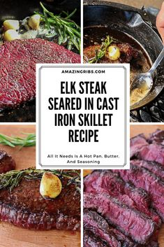 Recipe For Elk Steak, Deer Steak Recipes, Elk Recipes, Wild Game Recipes, Venison Recipes, Cooking Recipes, Venison Tenderloin, Venison Steak, Amigurumi