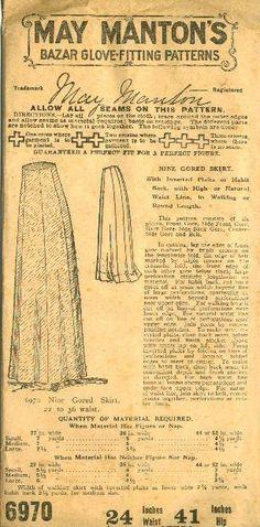 "1909 May Manton Walking Skirt   Sense & Sensibility Patterns (This was an inspiration for my ""Beatrix"" Skirt pattern.)"