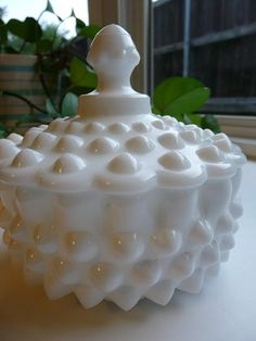 Vintage Milk Glass Covered Candy Dish from Sweet Mayberry on Etsy $30