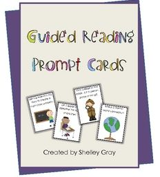 Free on TpT 3rd Grade: Guided Reading Prompt Cards
