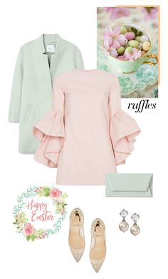 """Happy Easter"" by isidora ❤ liked on Polyvore featuring MANGO, Marques'Almeida, Christian Louboutin, ruffles and RuffLyfe"