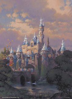 Disneyland Resort - Sleeping Beauty Castle sketch for 60th Diamond Jubilee celebration