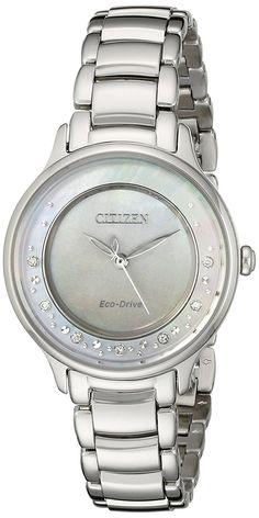 Citizen Eco-Drive Women's EM0380-81N Circle of Time Silver-Tone Watch *** For more information, visit image link.