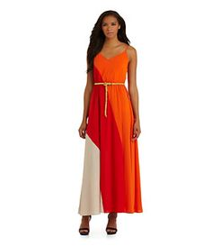 Calvin Klein Colorblock Maxi Dress | Dillard's Mobile