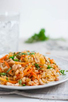 Vegetable Pineapple Fried Rice- a lightened up version of an Asian favorite! #vegan