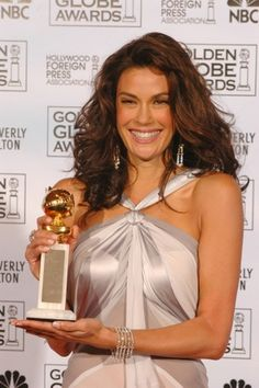 Photo Gallery of Golden Globe Dresses: Teri Hatcher, 2005