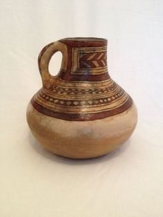 RARE-CRUCHE-POTERIE-BERBERE-KABYLE-ANCIENNE-IDEQQI North Africa, First Nations, Earthenware, Creative Art, Bled, Arts And Crafts, Craft Art, Vase, Art Nature