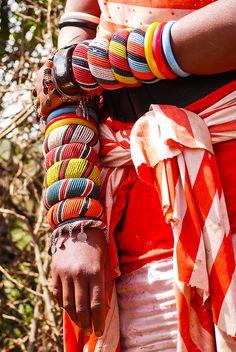 Traditional Samburu bangles . Kenya