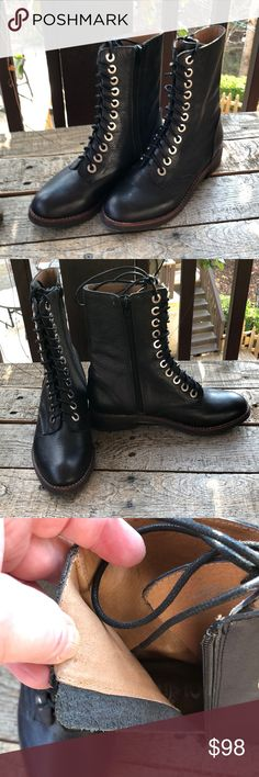 Classic Black Leather Combat Boots,  Size 7 Jeffrey Campbell Classic Black Leather Combat Boots. Size 7. Like brand new. No signs of wear, no scratches or flaws. Only worn once, as they were a bit too small for me. Jeffrey Campbell Shoes Combat & Moto Boots
