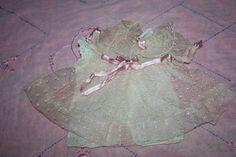 Point D'esprit Lace Dress for Composition or Bisque 1930s