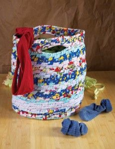 Made From Recycled Materials | No-Sew Basket Laundry Bag