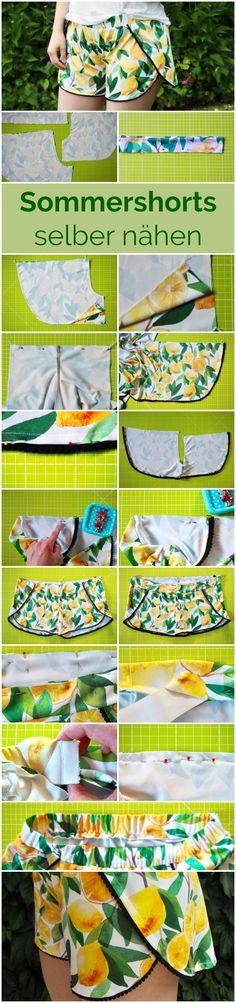 DIY-Anleitung für eine schnelle und einfache Sommershorts | Tutorial: Sommerhose selber nähen | Nähanleitung kurze Hose für Damen