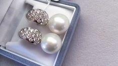India Jewelry, Pearl Jewelry, Gold Jewelry, Jewelery, Women Jewelry, Pearl And Diamond Earrings, Pearl Diamond, Diamond Jewellery, Ruby Bangles