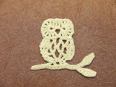 Crochet applique pattern diagram collection.