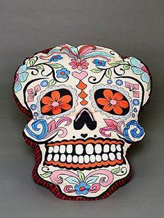Free People Sugar Skull Dog Pillow £98.00