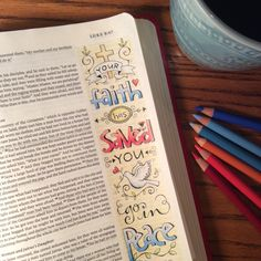 Go in peace. Good word for today's world. Bible journaling hand drawn by Karla Dornacher. www.etsy.com/shop/karladornacher