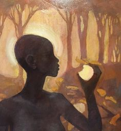 Eve and the Fruit of the Tree of Knowledge by J. Kirk Richards - 21 X 29, Oil on Panel