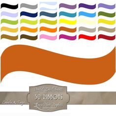 30 different colored digital ribbons.  Each file is a PNG with a transparent background.  $3.50  #ribbons, #labels, #digital, #tags, #printable, #download, #blue, #purple, #green, #red, #yellow, #orange, #blogging, #scrapbooking, #card making