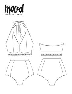 swim suit pattern The Cordia High-Waisted Swimsuit - Free Sewing Pattern - Mood Sewciety Coat Pattern Sewing, Sewing Patterns Free, Top Pattern, Free Sewing, Free Pattern, Vogue Patterns, Jacket Pattern, Vintage Patterns, Jumpsuit Pattern