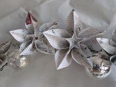 Newspapers origami wreath | Recyclart