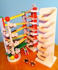 Toboggan & Discovery Towers Are Fun For All Ages.  Fantastic European Styled Wooden Toys.