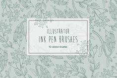 Hand Drawn Ink Illustrator Brushes by bum katrin on @creativemarket