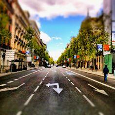Calle Serrano. Madrid.