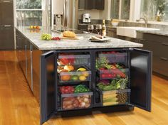 refrigerator specifically just for produce in your island.