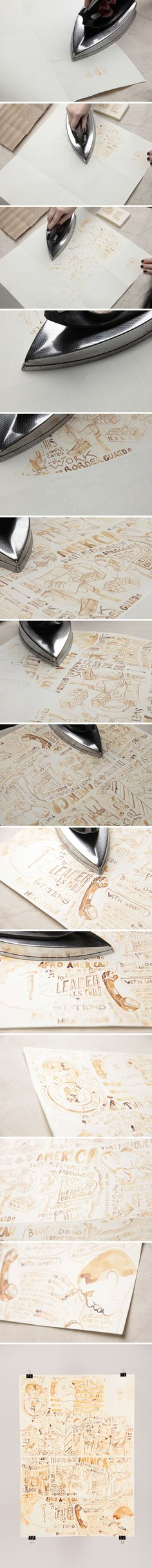Amazing: Draw with milk on paper, let dry for 30 minutes, and then iron to reveal!!!