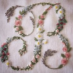 Wonderful Ribbon Embroidery Flowers by Hand Ideas. Enchanting Ribbon Embroidery Flowers by Hand Ideas. Silk Ribbon Embroidery, Floral Embroidery, Cross Stitch Embroidery, Embroidery Patterns, Machine Embroidery, Embroidery Alphabet, Simple Embroidery, Embroidery Monogram, Embroidery Thread
