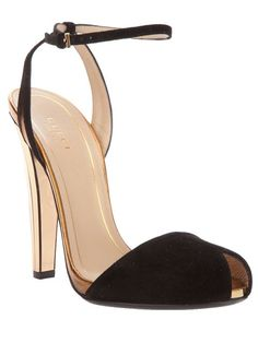 Shop for peep toe sandal by Gucci at ShopStyle. Stilettos, High Heels, Cute Shoes, Me Too Shoes, Shoe Boots, Shoes Heels, Suede Sandals, Peep Toe Heels, Designer Pumps