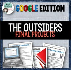 Outsiders Final Projects- Students choose one of four final projects to finish…