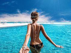Nataly Zakharova y Murad Osmann, la pareja que viaja por el mundo tomada de la mano y publica sus fantásticas fotos en Instagram