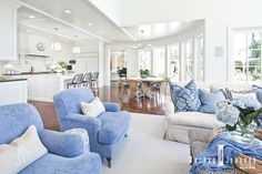 Light Filled Oasis     Today I am loving this light filled beach house.   I love the high ceilings, all ...