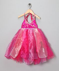 Take a look at this Fuchsia Halter Dress - Toddler & Girls by Fairy Dreams on #zulily today!
