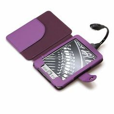 [PURPLE] #Kindle Leather Case with LED Reading Light