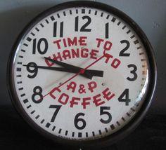 vintage clock on ebay