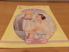 Bride & Groom Barbie Paper Dolls, 1988 Golden Books, Uncut