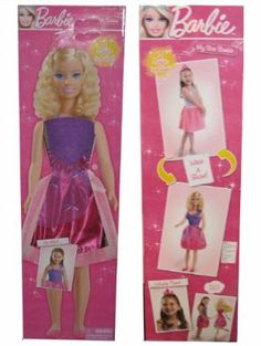 My Size Barbie - 3 feet 2 inches Tall - Bonus: 2 Outfits by CDI. $199.99. Official My Size Barbie doll. Comes with two beautiful party outfits for you or your doll. Recommended for children 3 and older. Barbie is 38 inches Tall - That's 3 feet & 2 inches!. Let your little princess share her adventures in fashion with this My Size Barbie doll. The 38-inch tall doll comes with two beautiful party outfits to mix and match for hours of fashionable fun.            o Offic...