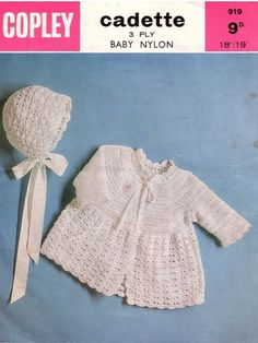 Hey, I found this really awesome Etsy listing at https://www.etsy.com/listing/161090299/vintage-baby-crochet-pattern-baby