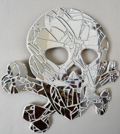 jasper and george: Mosaic - Skull and crossbone