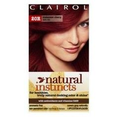 Clairol Natural Instincts Hair Color Malaysian Cherry 20r 1 Ea Dark